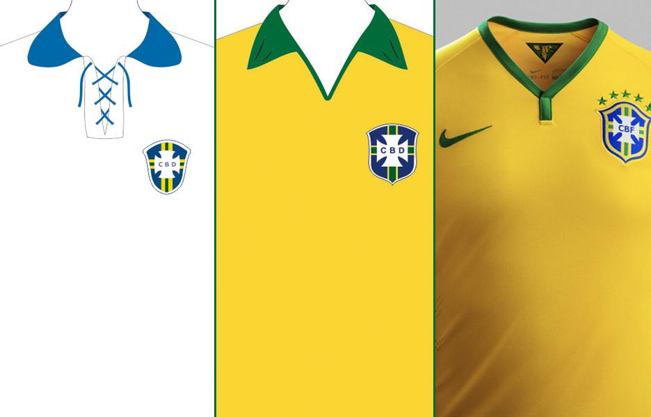 Camisas da Seleção Brasileira em todas as Copas - Terra 940f2ecd081ac